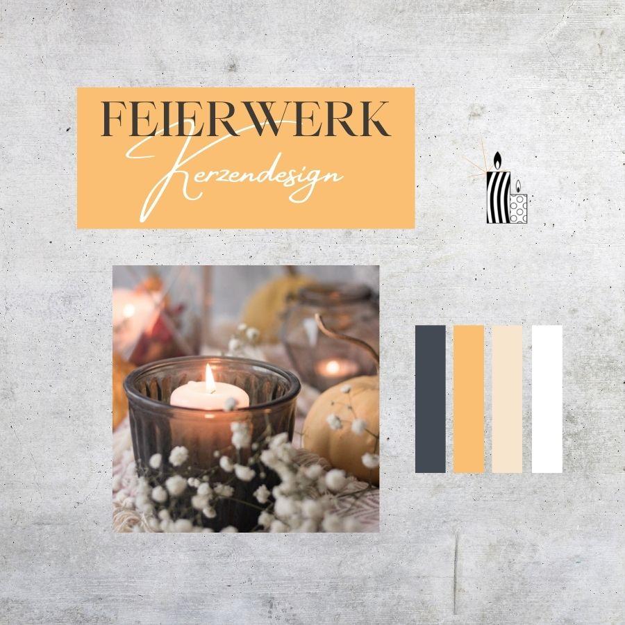 Kerzendesign Feierwerk - Markenentwicklung, Logoentwicklung, Corporate Design