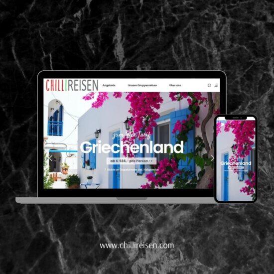 CHILLIReisen Website Design und Betreuung